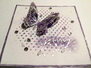 Karte mit großem Schmetterling