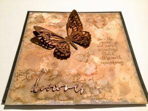 Karte mit Schmetterling braun