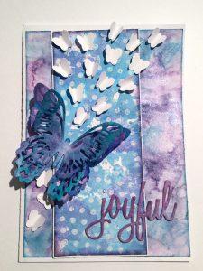 Karte mit Schmetterling