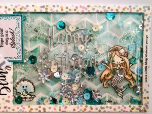 Meermädchengeburtstagsschüttelkarte